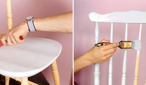 KROK III - Malowanie krzesła
