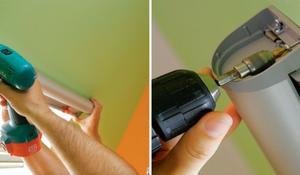 KROK II - Przykręcanie kasety do ściany