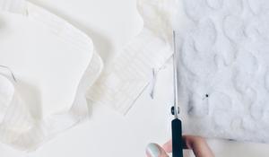 KROK IV - Przycinanie tkaniny wewnętrznej